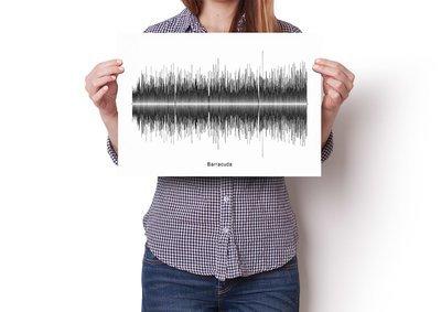 Heart - Barracuda Soundwave Poster
