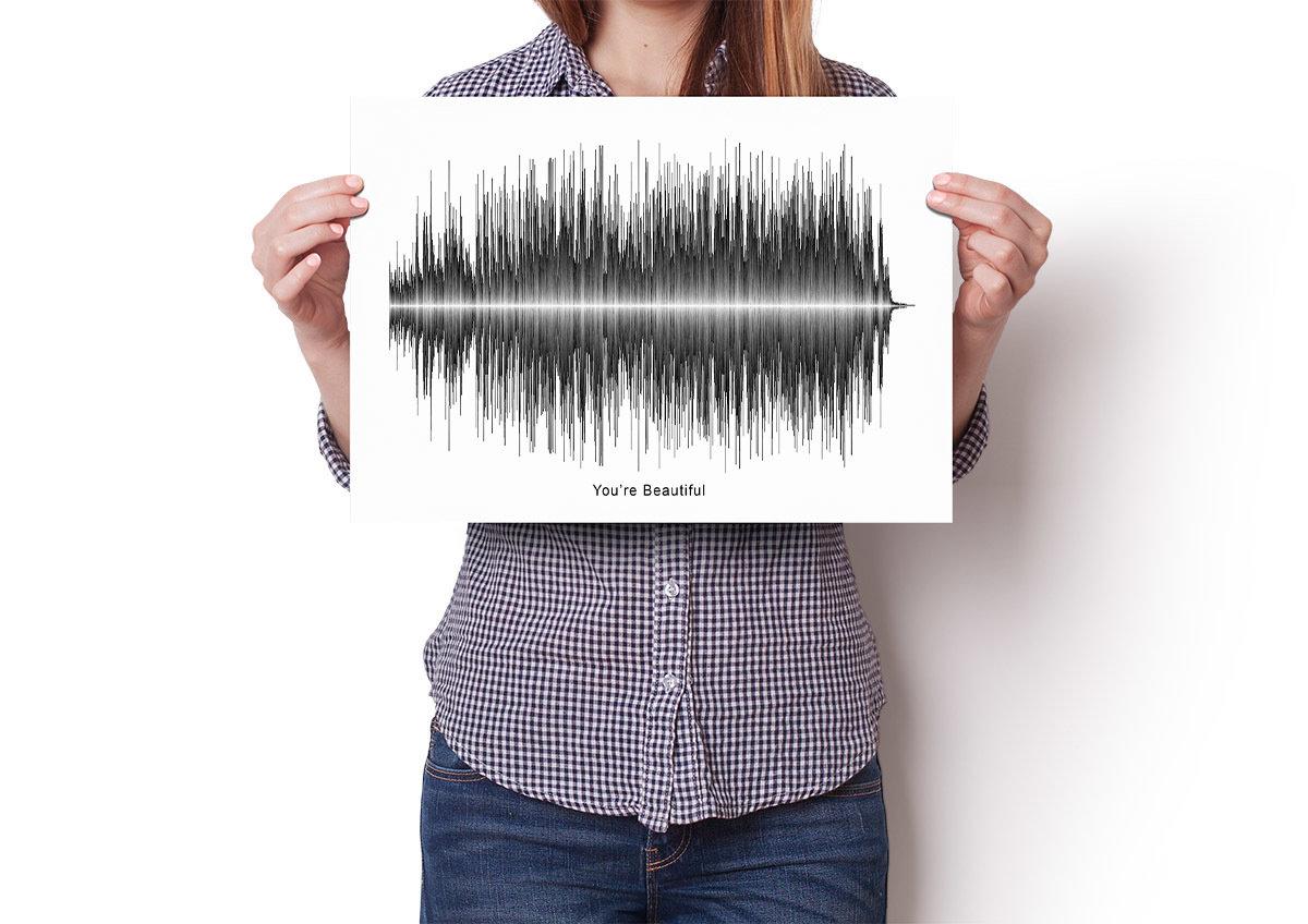 James Blunt - You're Beautiful Soundwave Poster