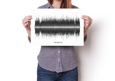 James Brown - Sex Machine Soundwave Poster