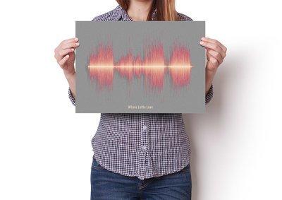 Led Zeppelin Whole Lotta Love Soundwave Poster