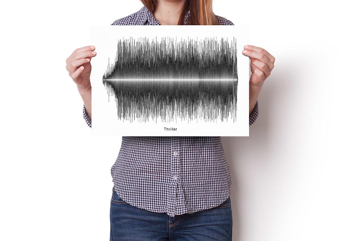 Michael Jackson - Thriller Soundwave Poster