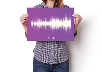 Prince - Purple Rain Soundwave Poster