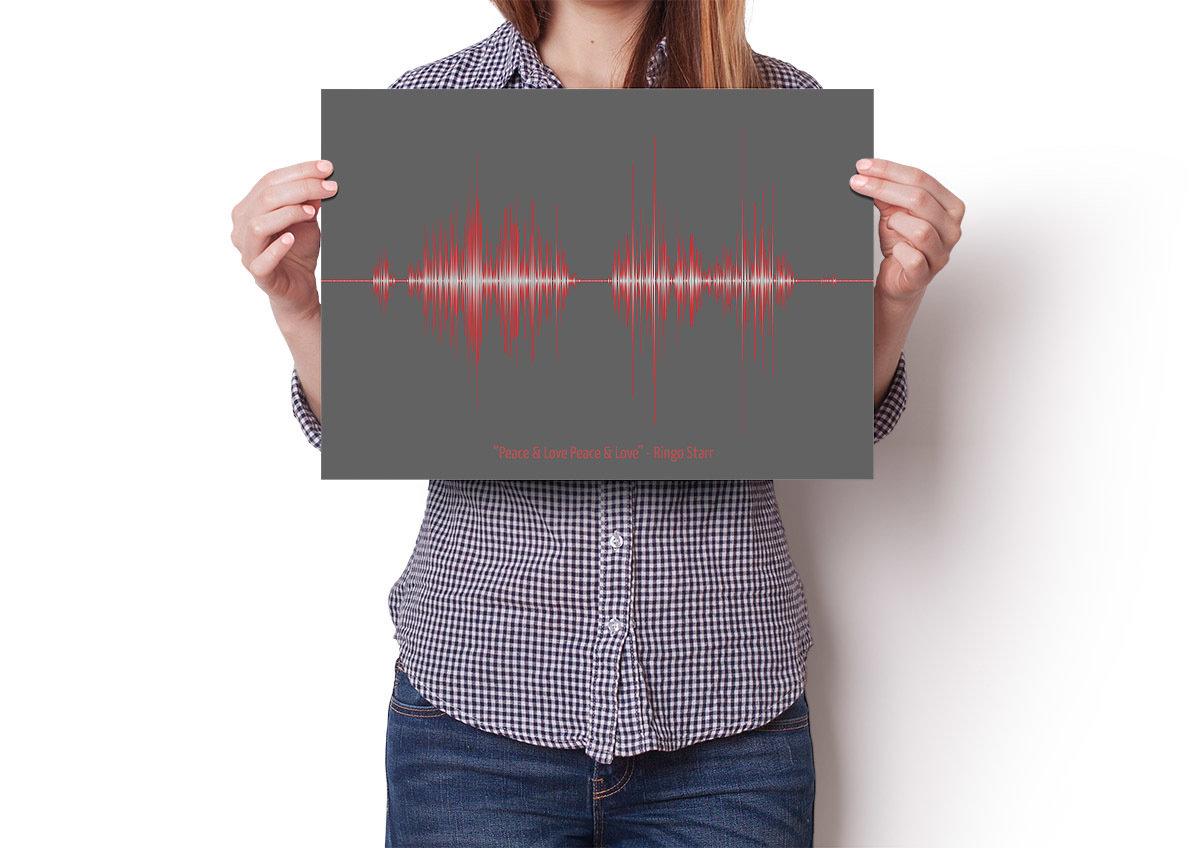 Ringo Starr Quote Soundwave Poster
