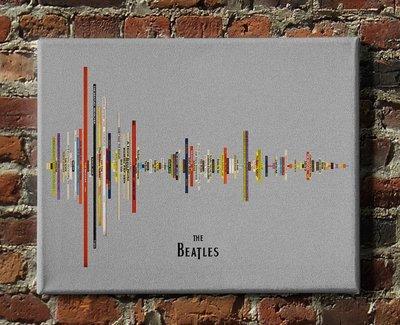Beatles Album Soundwave Canvas