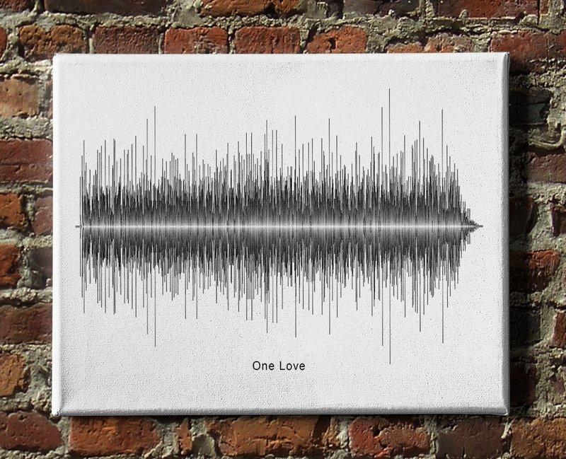 Bob Marley - One Love Soundwave Canvas