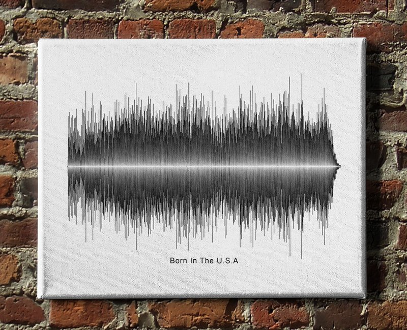 Bruce Springsteen Born in the U.S.A. Soundwave Canvas