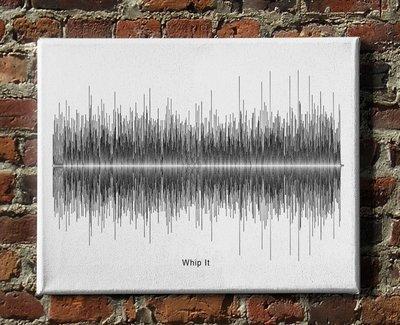 Devo - Whip It Soundwave Canvas