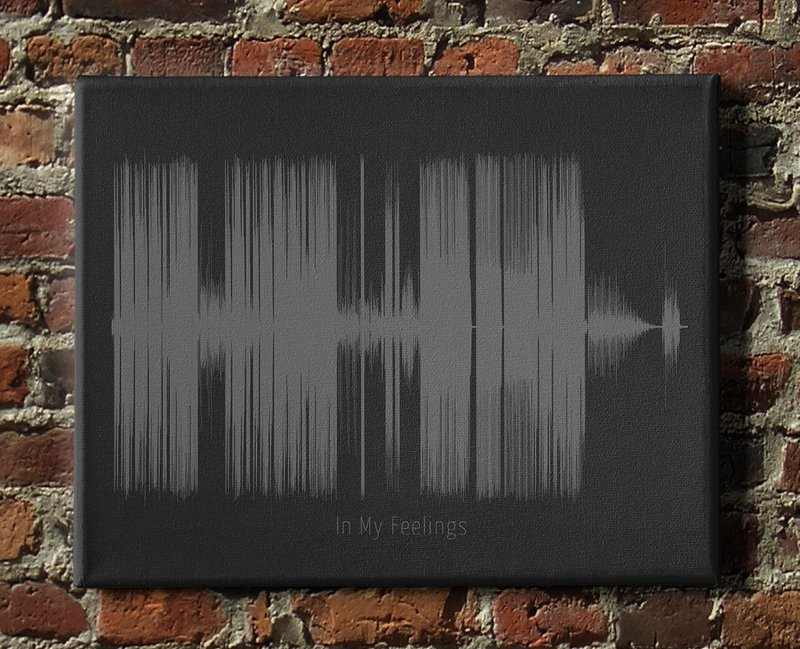 Drake - In My Feelings Soundwave Canvas