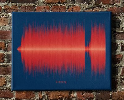 Foo Fighters - Everlong Soundwave Canvas
