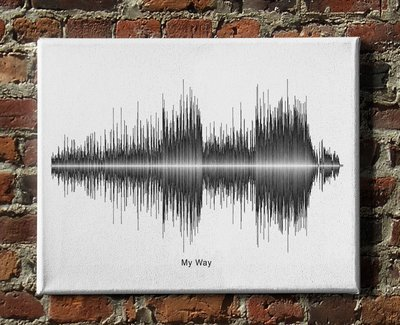 Frank Sinatra - My Way Soundwave Canvas