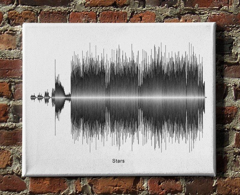 Hum - Stars Soundwave Canvas