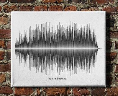 James Blunt - You're Beautiful Soundwave Canvas