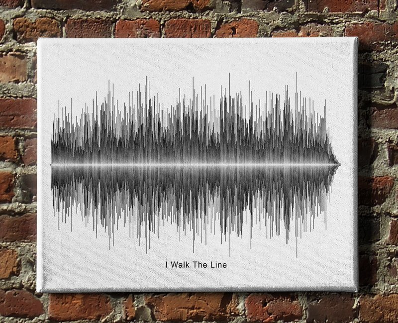Johnny Cash - I Walk The Line Soundwave Canvas