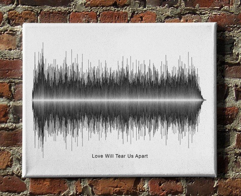 Joy Division - Love Will Tear Us Apart Soundwave Canvas