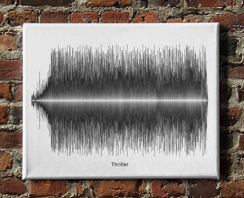 Michael Jackson - Thriller Soundwave Canvas