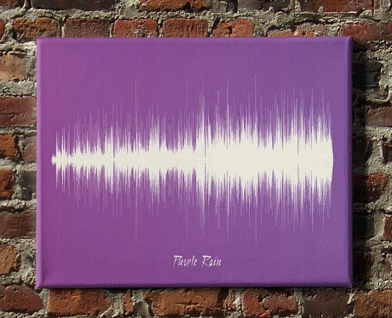 Prince - Purple Rain Soundwave Canvas