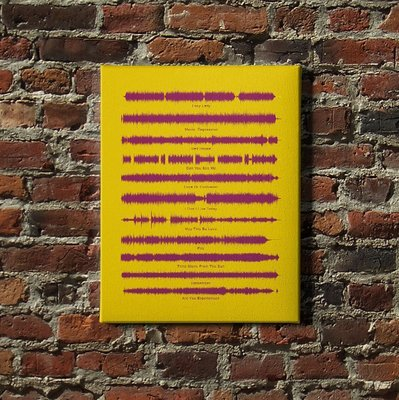 The Jimi Hendrix Experience - Are You Experienced Soundwave Canvas