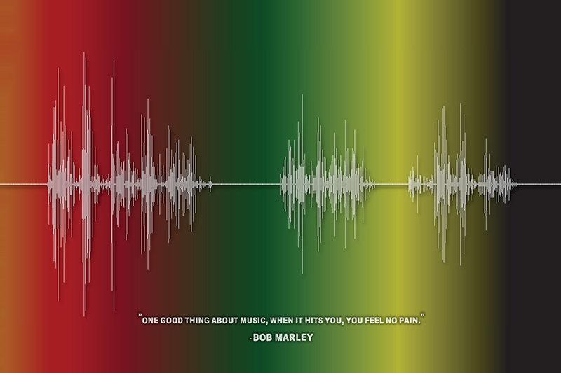Bob Marley - Quote Soundwave Digital Download