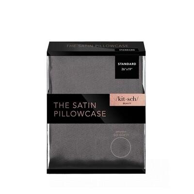Satin Pillowcase - Charcoal Grey