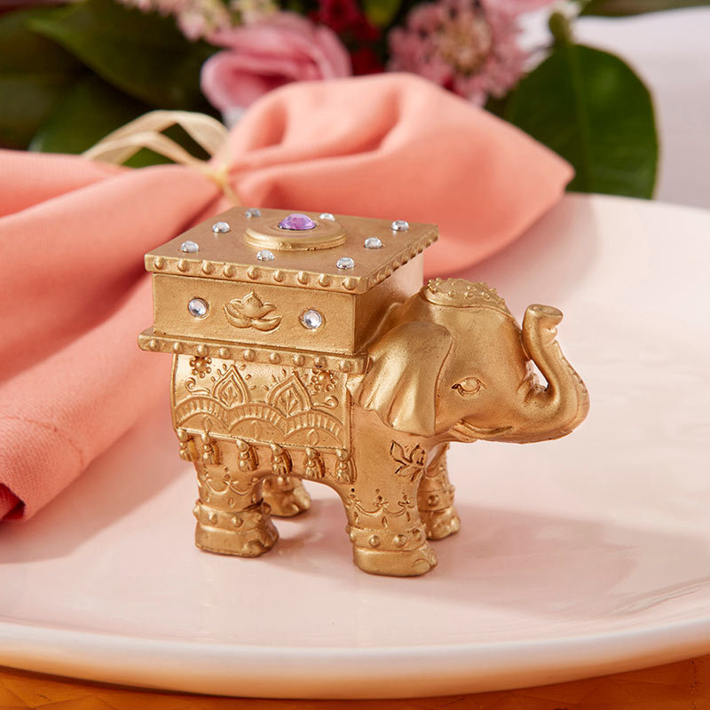 Lucky Golden Elephant Trinket Box 202-IF