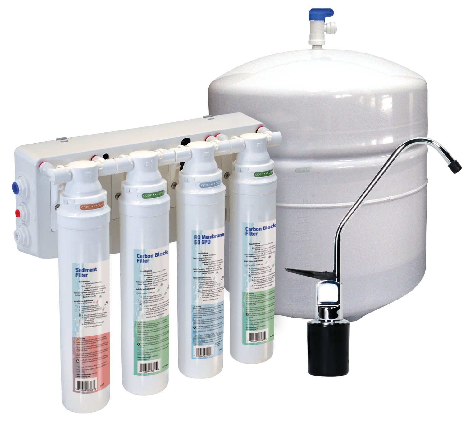 Reverse Osmosis With Mineral Bed Aqua Flo Platinum , 50 GPD