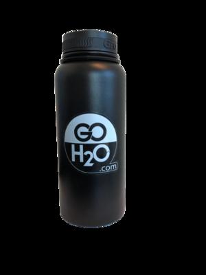 Black, 32oz Stainless Steel Reusable Water Bottle.