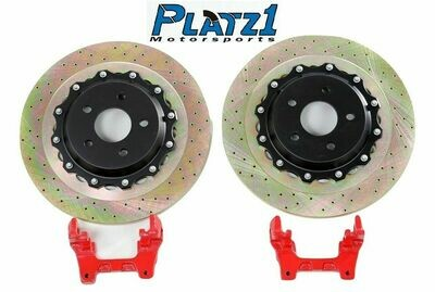 Platz1 Rear 340mm 2-PC Brake Disc Upgrade Rotors SET for Ford Focus ST MK3/2014