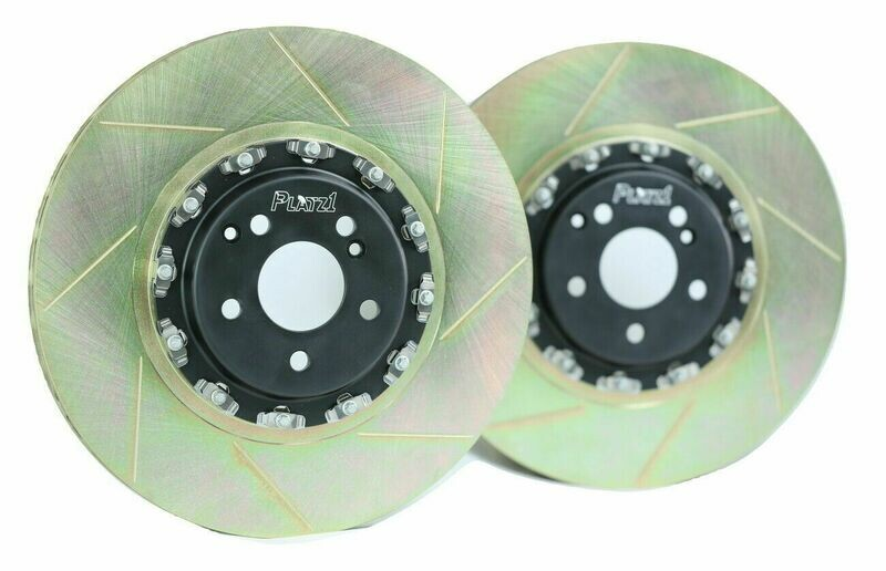 Platz1 390mm Front 2-Piece Floating Brake Discs Upgrade for Benz W205 C63 S AMG