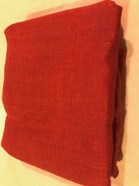 Burlap, Red 5 yard/pk
