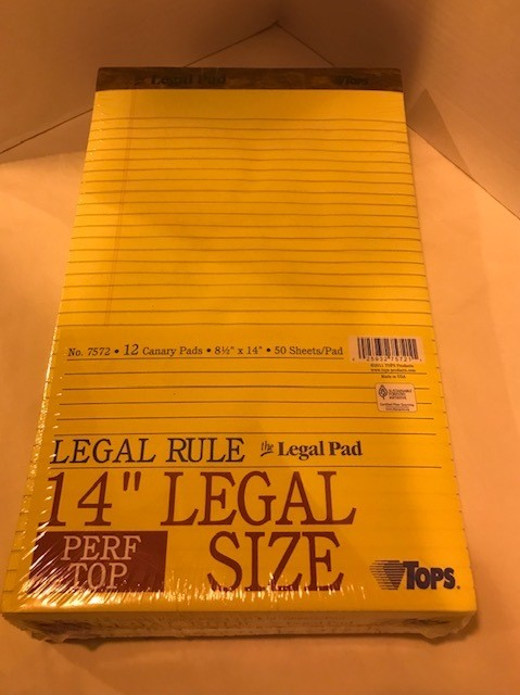 Pad, Legal, Yellow