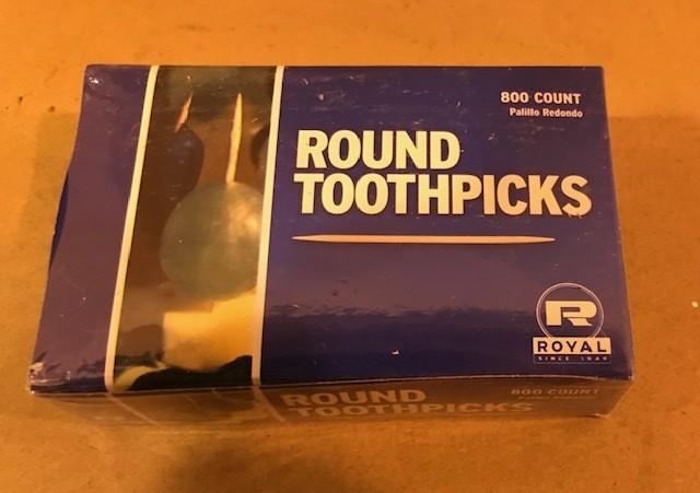 Toothpick, Round, 800/Box