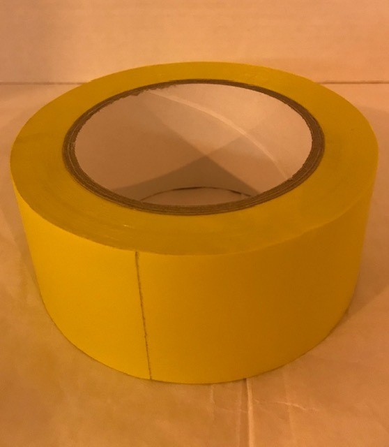 "Tape, yellow vinyl, 2"" x"