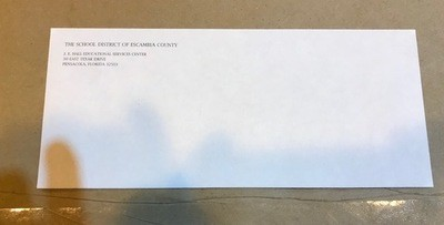 Envelope, #10 Hall Center