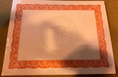 Certificate, Award, Red