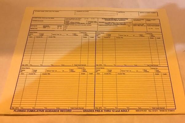 Cumulative Folder GR K-12