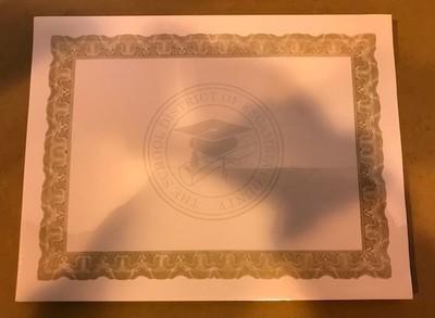 Certificate, Award, Gold