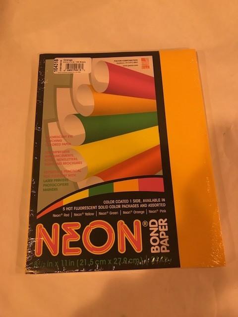Paper, Neon Orange, Ltr