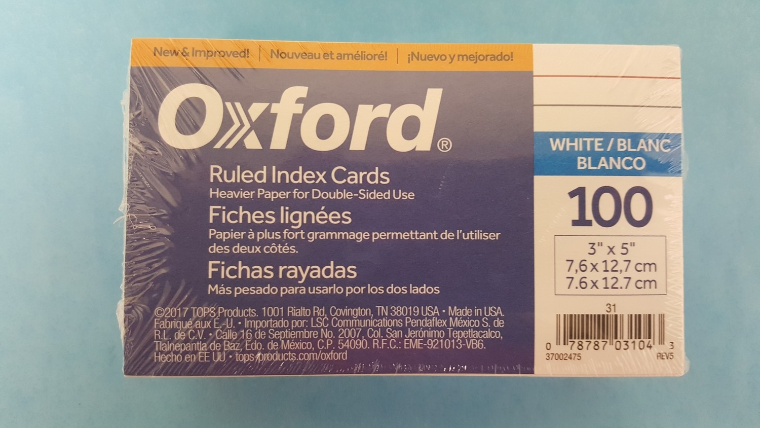 Index Card, 3X5 Ruled Whi