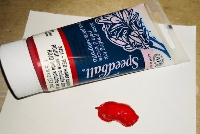 Ink-Block Printing, Red