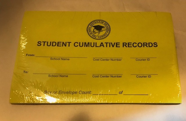 Student Records E-M Label