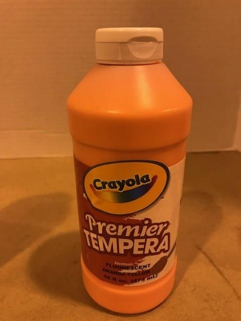 Paint, Tempera, Orange Fl