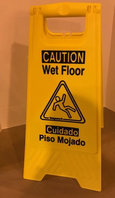 WET FLOOR SIGN, YELLOW W/