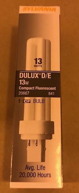BULB, FLUOR 13W CF13DD  S