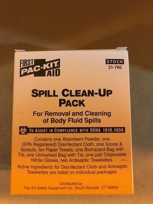 Kit, Vomit Clean-up w/Scoop & Scraper, Mask, Gloves & Bag