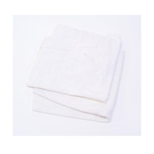 RAG,TERRY TOWEL MATERIAL, WHITE COTT0N BLENDS, 10 LB/CASE