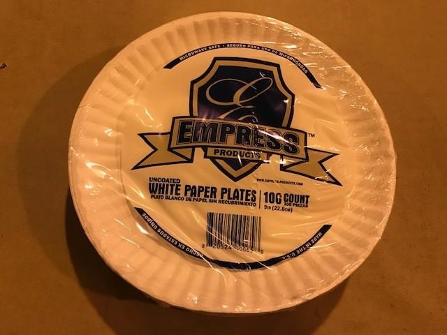 """Paper Plates, 9"""" Plain"""