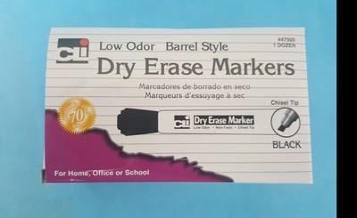 Markers, Dry Erase, Black