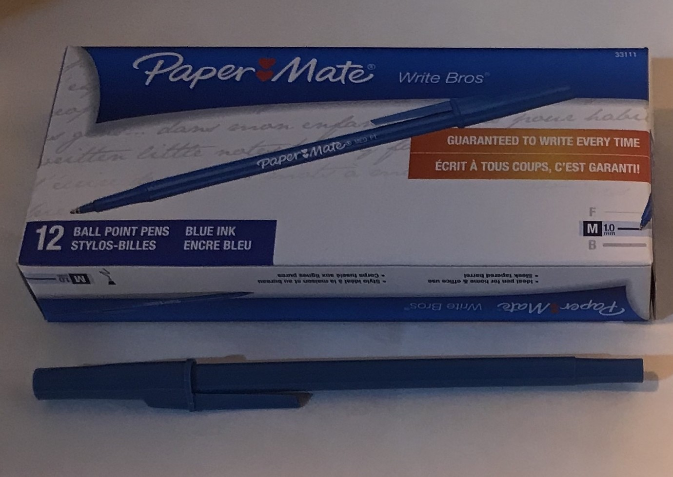 Pen, Blue, Medium Ball Po
