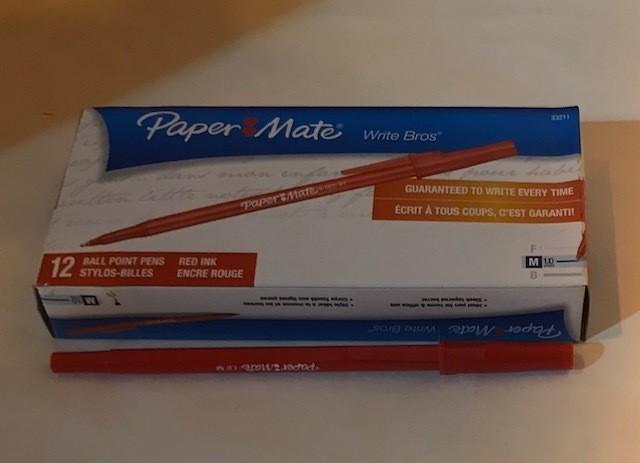 Pen, Red, Medium Ball Poi