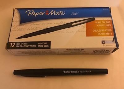 Pen, Black Felt Tip, Fine